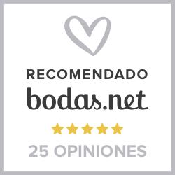 Sello 25 Opiniones - Organizadores de Bodas